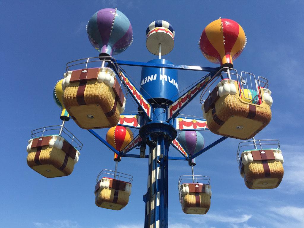 Met een luchtballon omhoog!