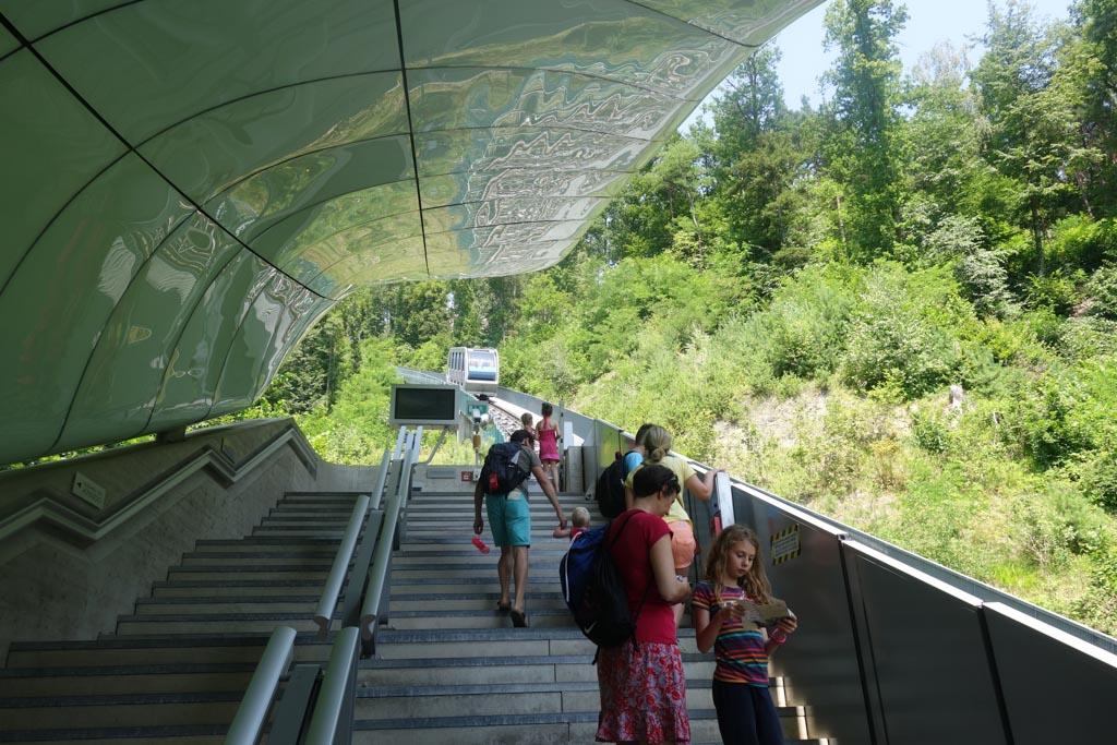 Nordkettebahn met kinderen