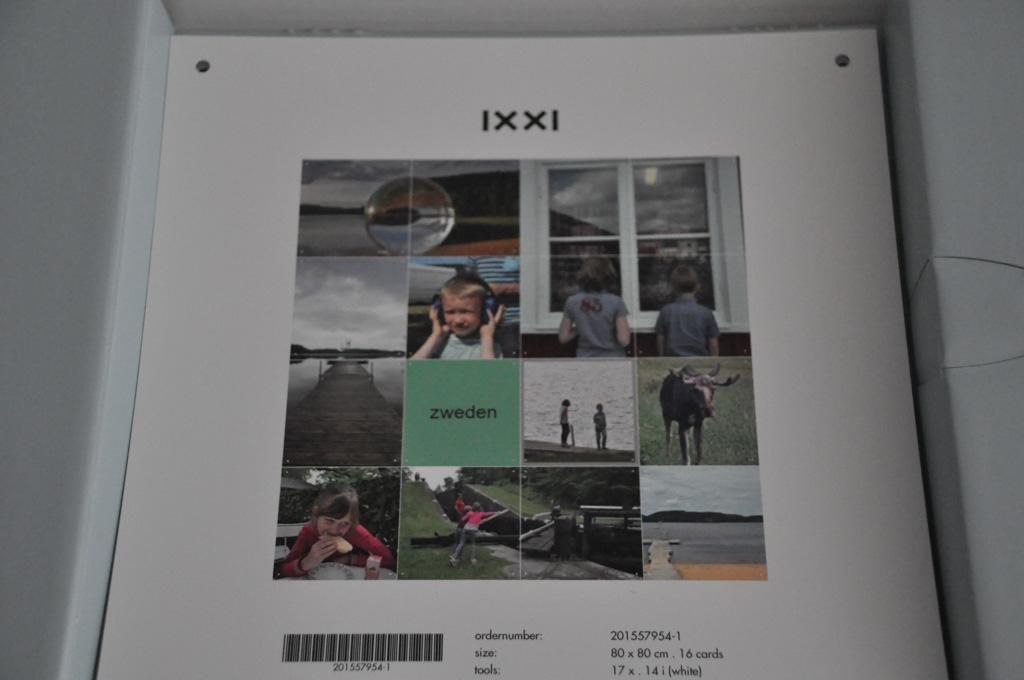 In de doos is een voorbeeld van je IXXI fotocollage toegevoegd.
