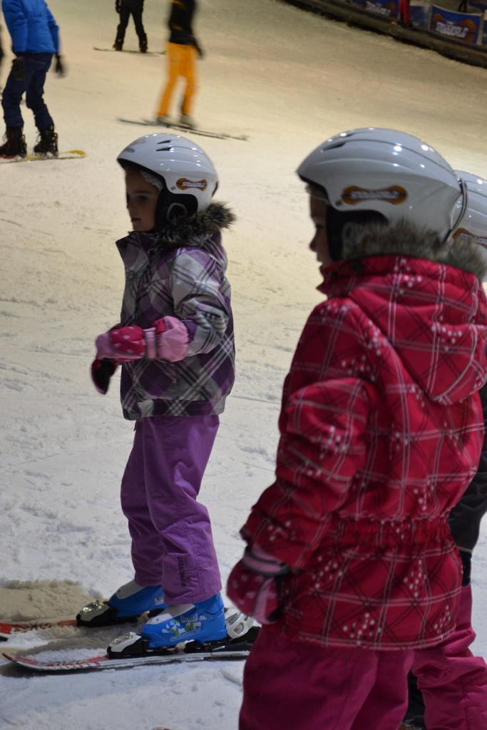 De ski's zijn aan.