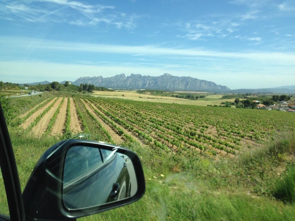 Montserrat ligt voor ons. wat een indrukwekkende berg.