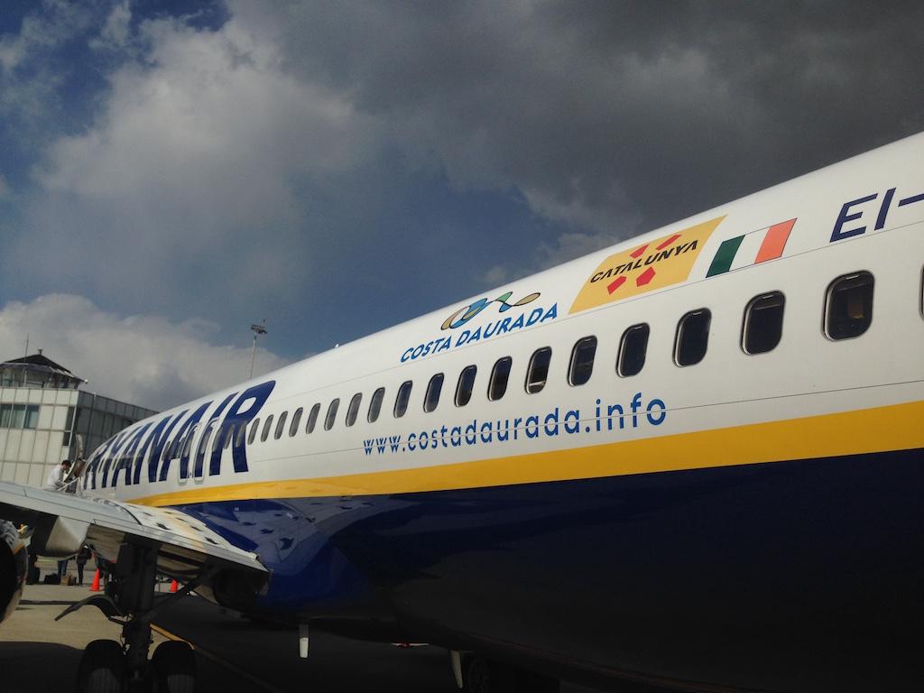 Op de heenweg vloog ik met Ryanair.