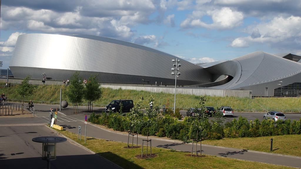 Vanaf een afstandje is het gebouw van Den Bla Planet het mooiste om te zien.