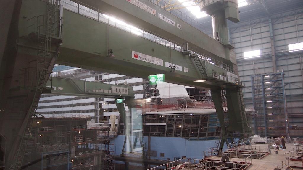 De schepen worden in modules opgebouwd.