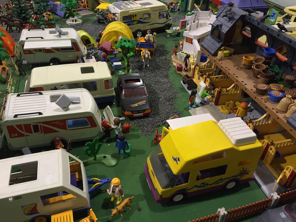 Een echte camping van Playmobil.