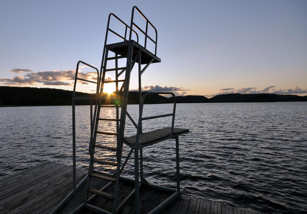 's Avonds een mooi en rustig plekje om naar de ondergaande zon te kijken.
