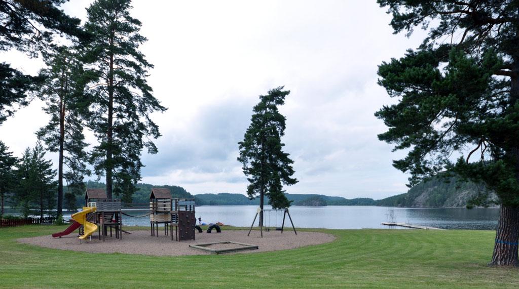 Het meer bij de camping.