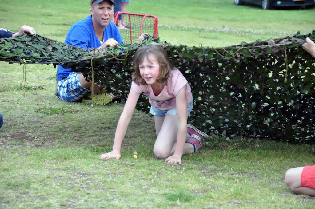 Highland Games op de camping.