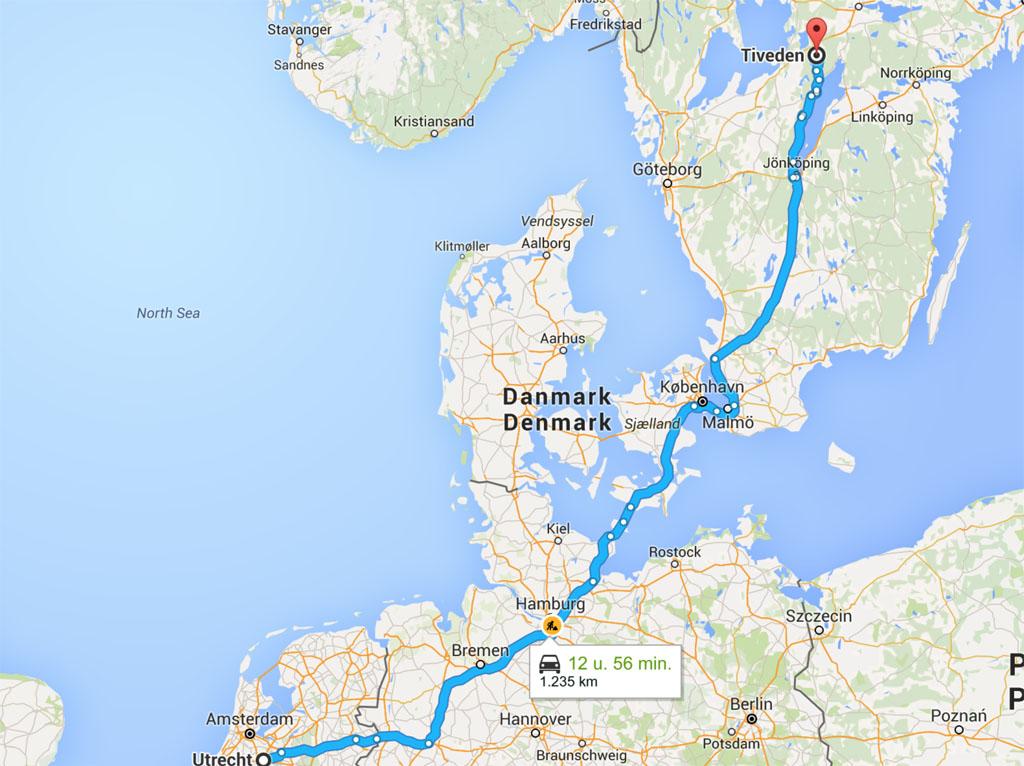 Naar Zweden met de ferry Puttgarden - Rodby en de Oresundbrug.