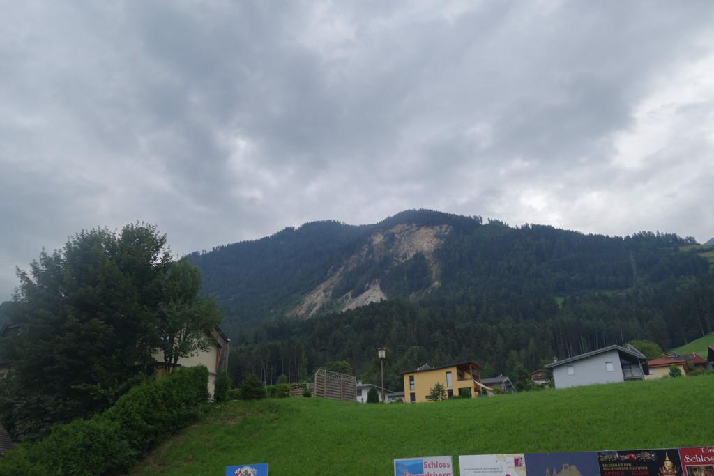 De berg waar de mijn zich in bevindt