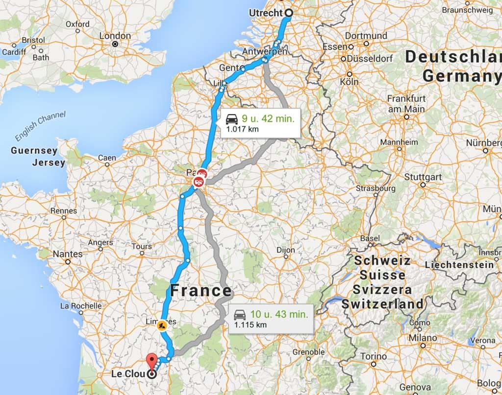 In Frankrijk heb je te maken met tolkosten die variabel zijn afhankelijk van de route en afstand.