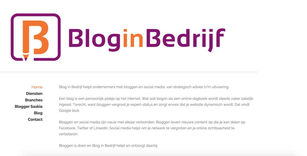 Blog in Bedrijf: rustig opbouwen.