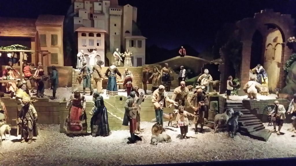 Prachtig om te zien, de Napolitaanse kerststal.