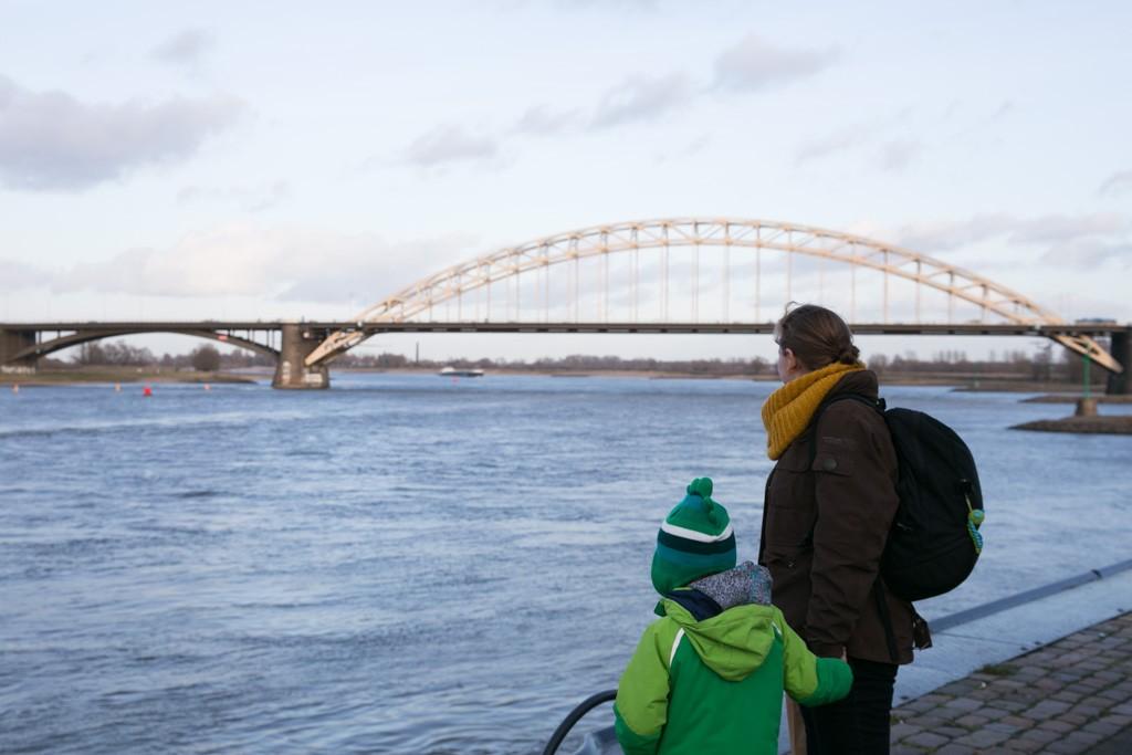 Kenmerkend voor Nijmegen, de Waalbrug.