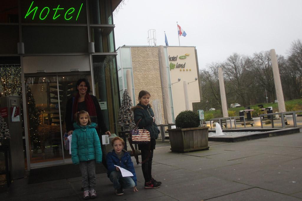 Onze uitvalsbasis voor dit weekend, hotel Mitland.