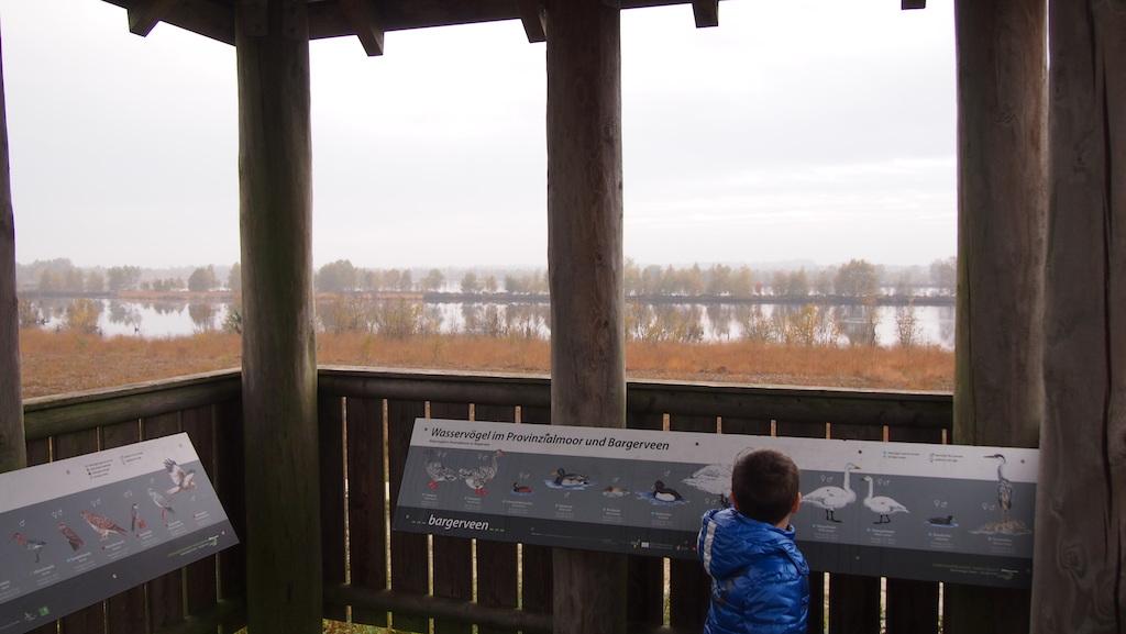 Camiel in de uitkijktoren.