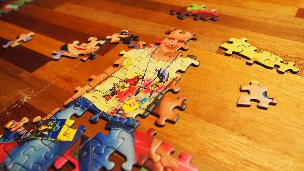 Hoe gaaf is dat, jezelf in elkaar puzzelen.