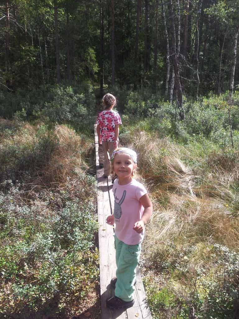Favoriet bij onze kinderen, 'planken-wandelingen'.