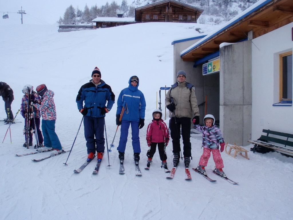 Met z'n allen samen skiën is het leukste!