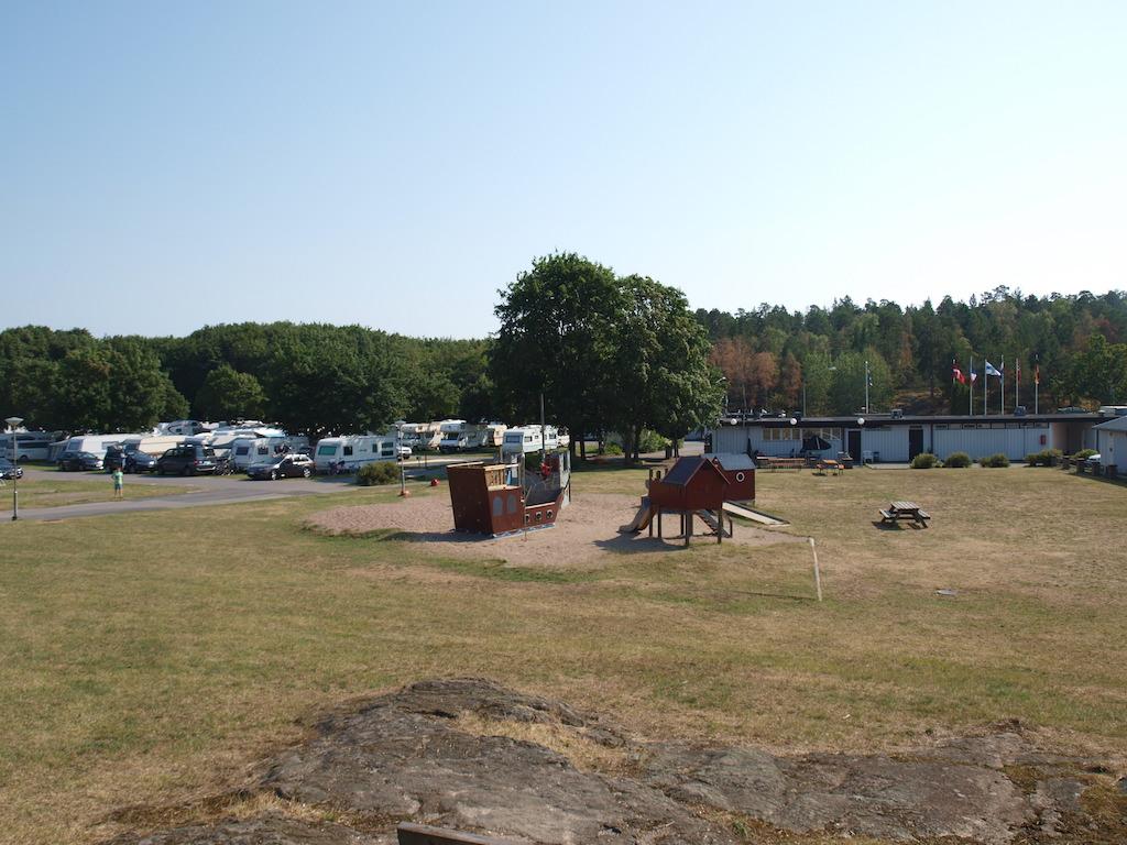 Het speeltuintje op Bredang Camping.