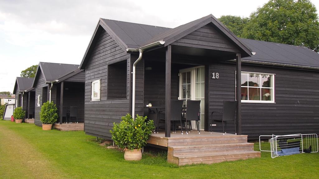 De luxe hutten c.q. bungalows.