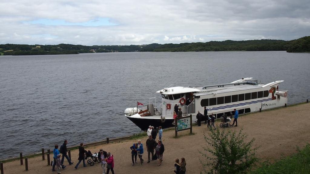 Terug naar de boot die ons weer naar Silkeborg gaat brengen.