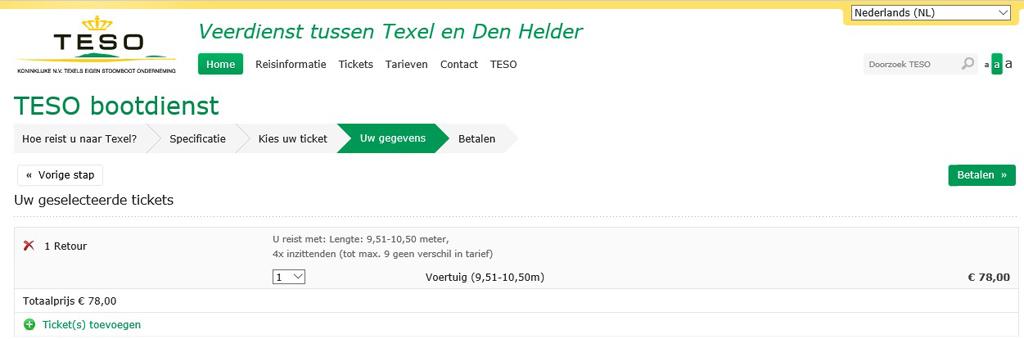 Overtocht Texel.