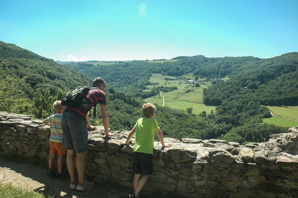 Uitzicht bij Chateaux Rocher.