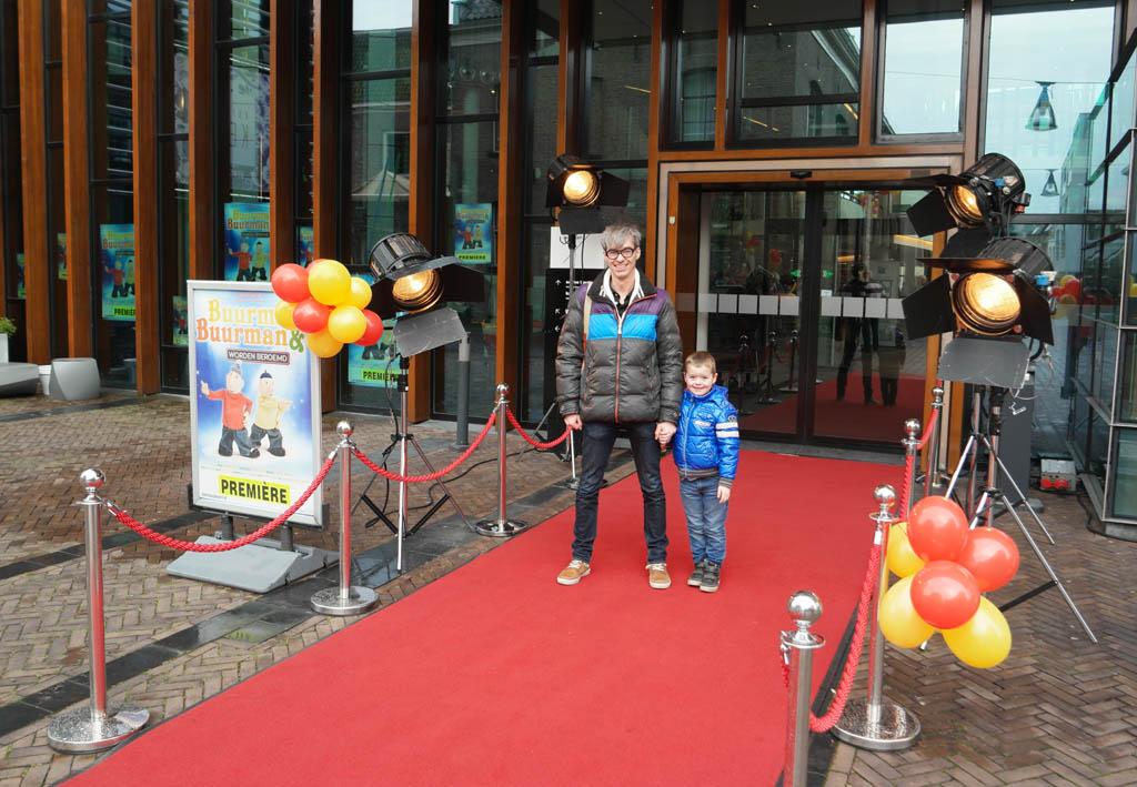 Bij de premiere van Buurman & Buurman worden beroemd.