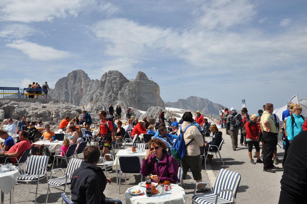 Het bergrestaurant.