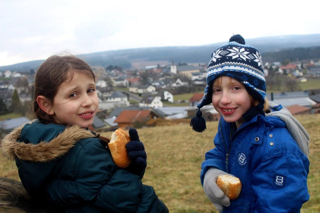 Duitse broodjes mee en genieten van het uitzicht.
