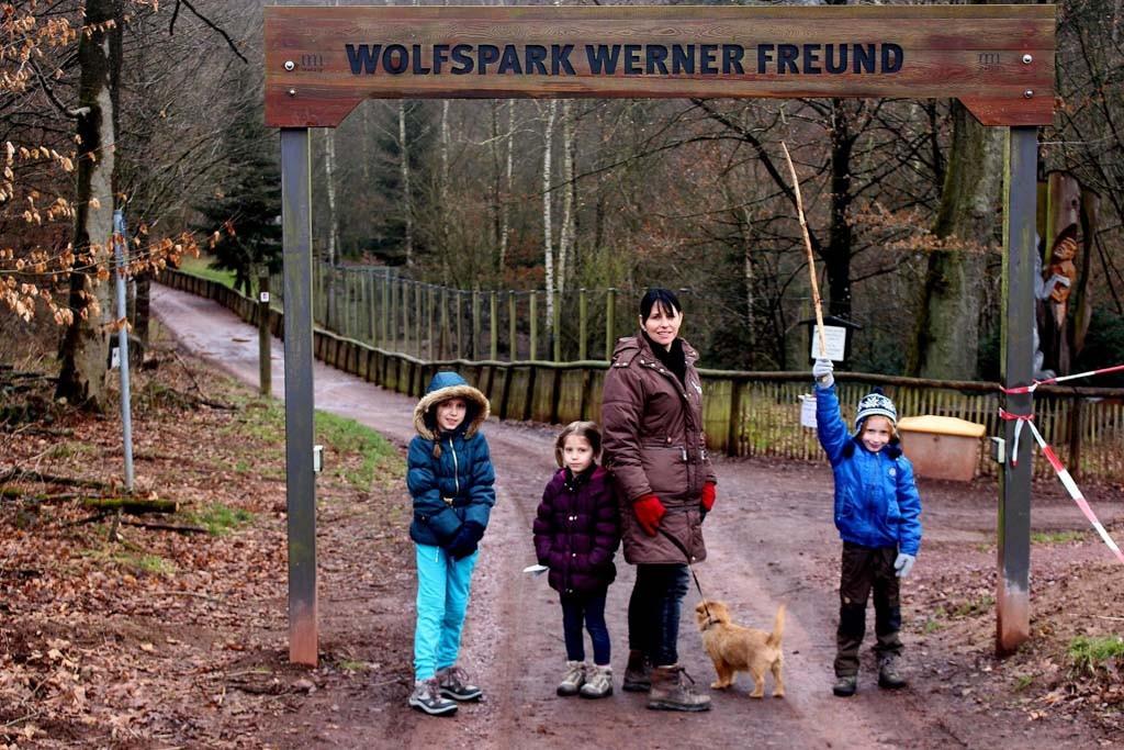 De ingang van het gratis toegankelijke park.