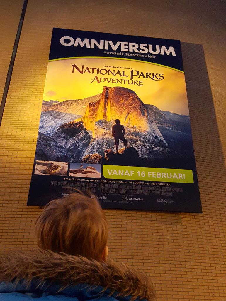 Op weg naar National Parks Adventure in Omniversum.