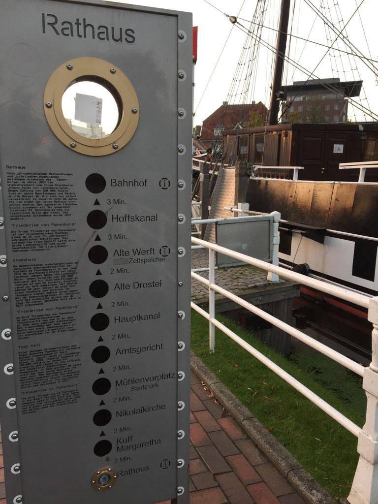 Een overzicht van de boten die je in het centrum van Papenburg kan bekijken.