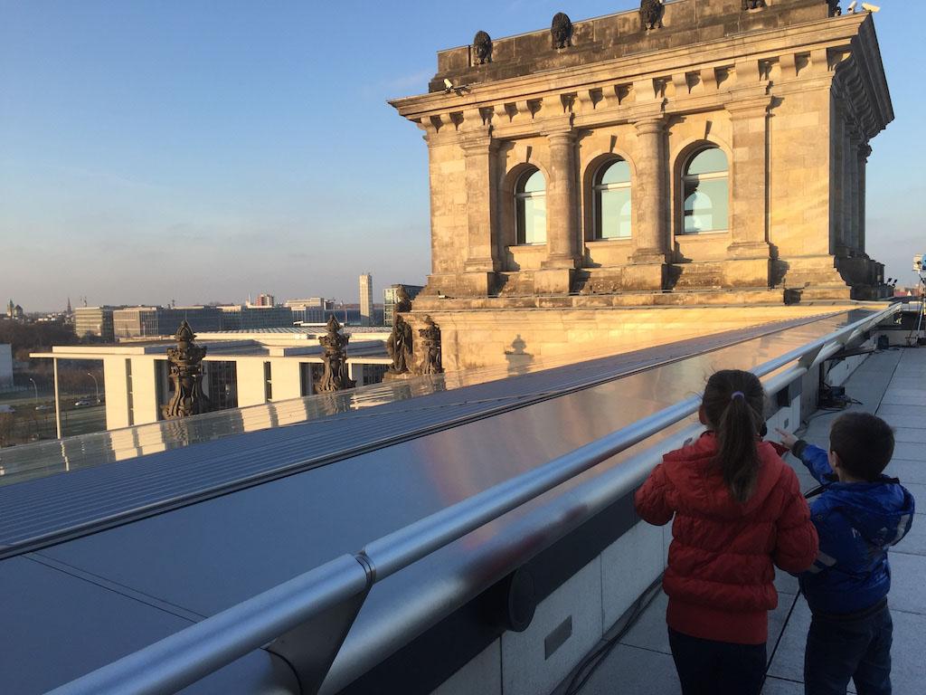 Op het dak van de Rijksdag.