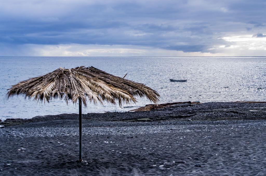 Zwarte stranden op Lanzarote.