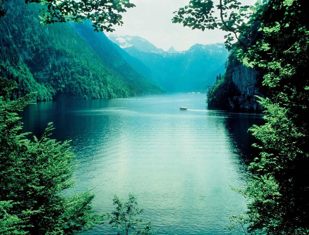 Nationalpark Berchtesgaden: Königssee (Copyright: Deutsche Zentrale für Tourismus e.v.).