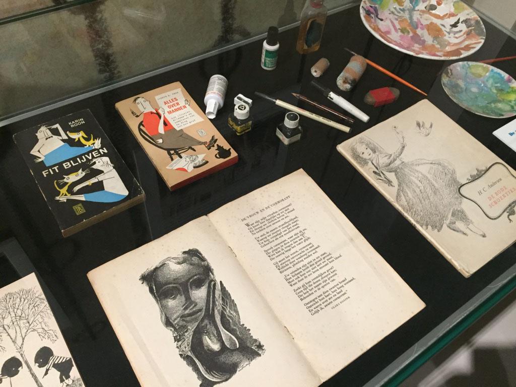 Een deel van het eerste werk van Fiep Westendorp is ook te bekijken.