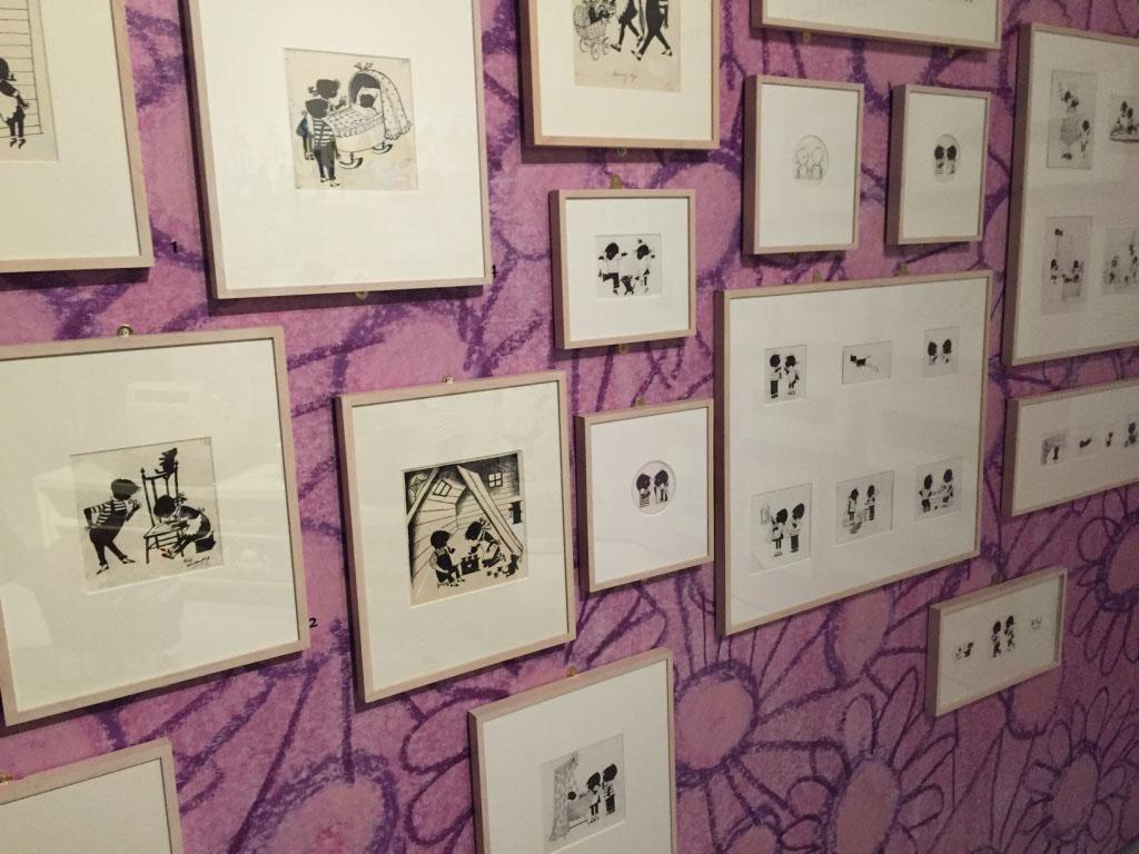 Leuk voor de ouders om goed te bekijken: originele tekeningen van Fiep Westendorp.
