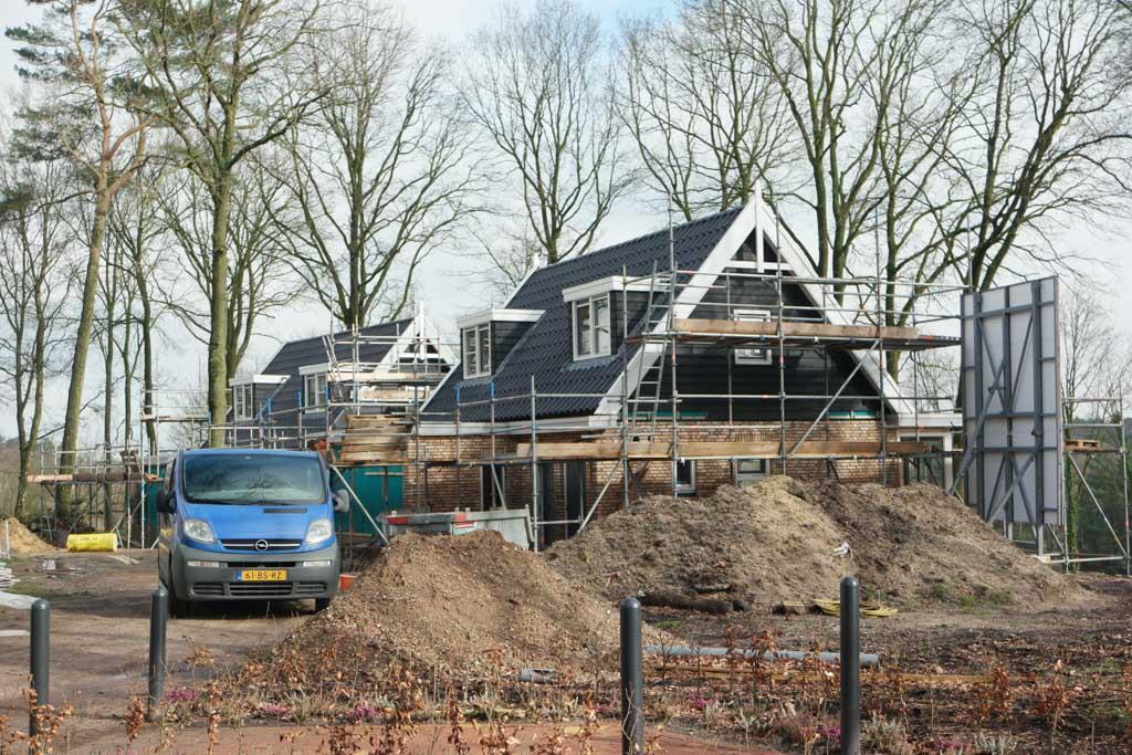 Mooie villa's in aanbouw.