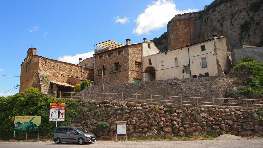 Even stoppen langs de weg in Catalonië.