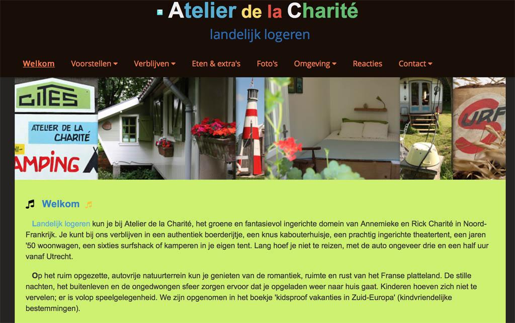 Bijzonder overnachten bij Atelier de la Charite.