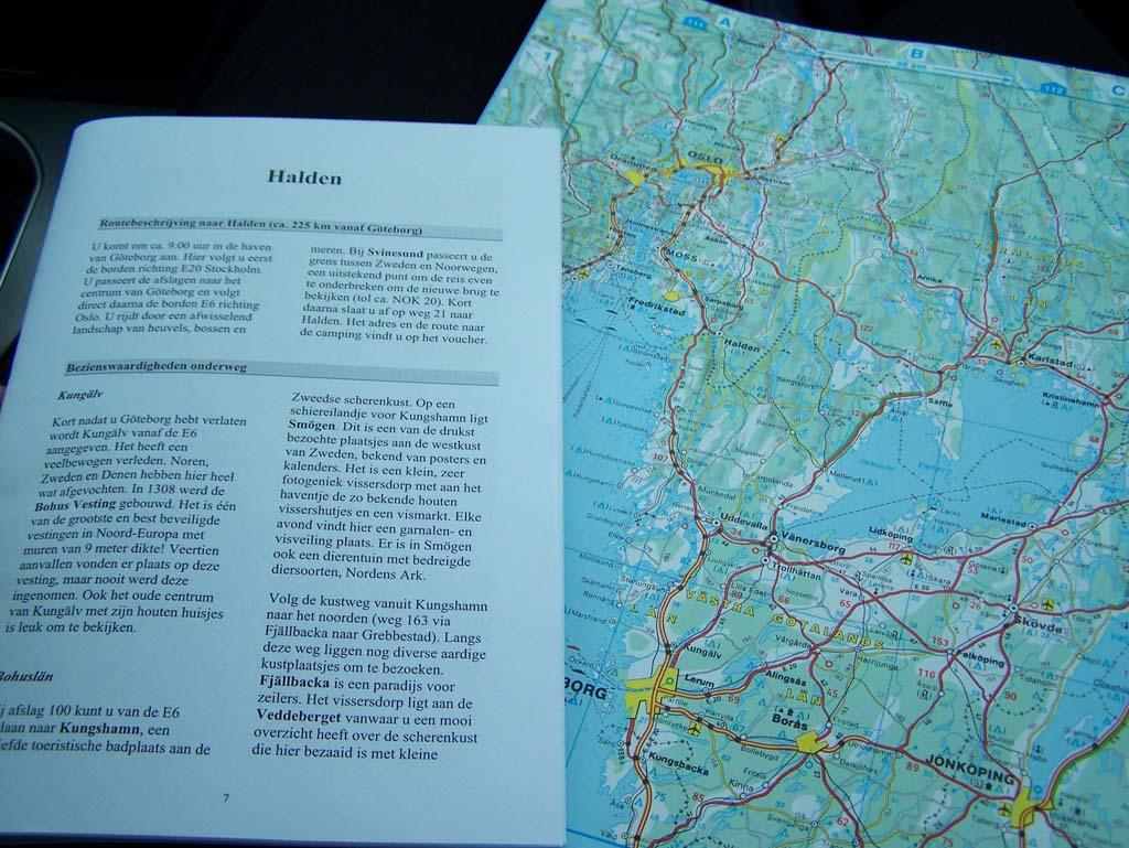 Bij ScanBrit kregen we een routeboekje. Bij onze andere rondreizen maakten we de zelf.
