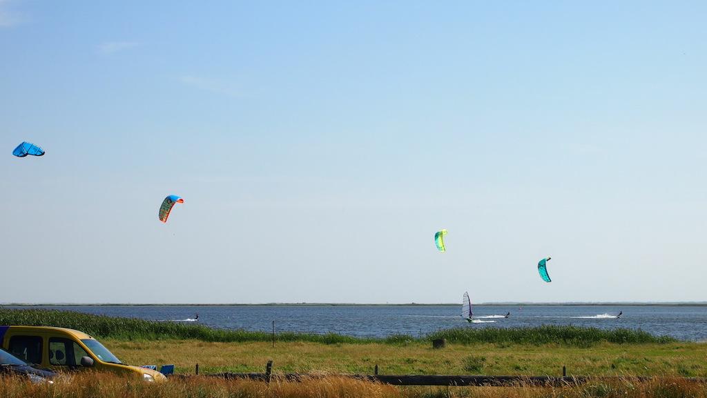De kites zien we overal voorbij komen.
