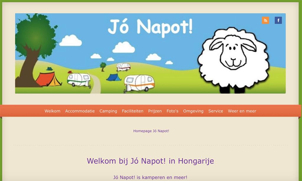 Hongarije met kinderen - camping Jo Napot