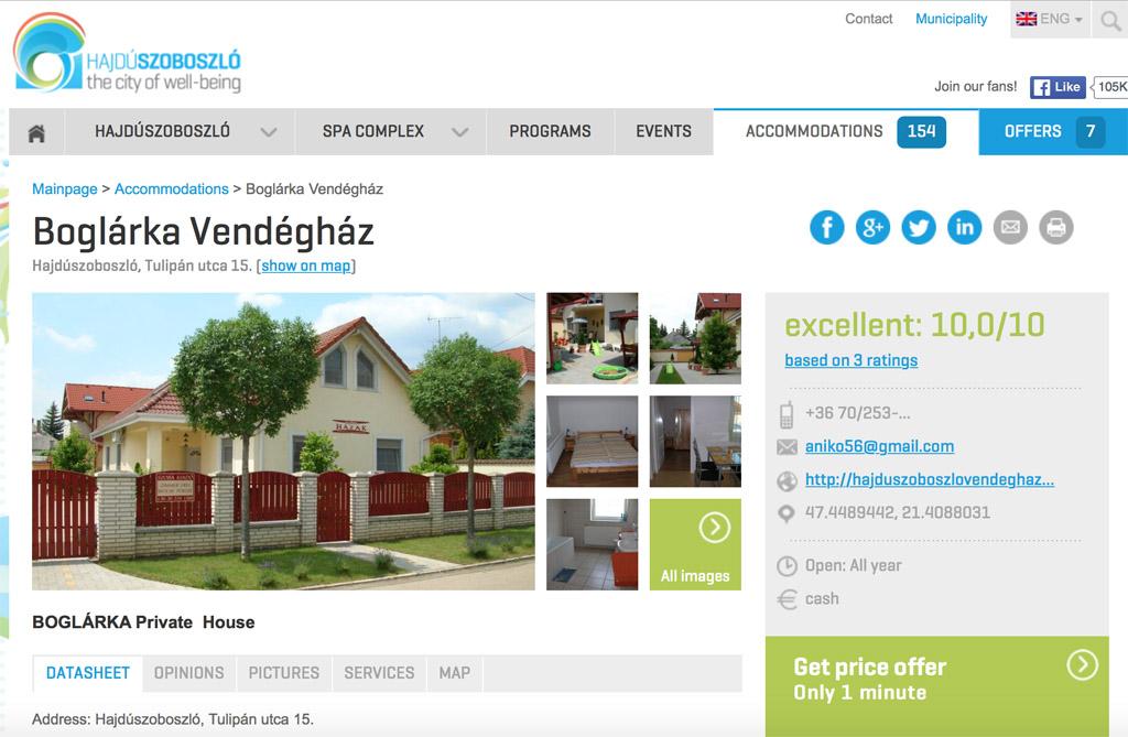 Hongarije met kinderen - vakantiehuis