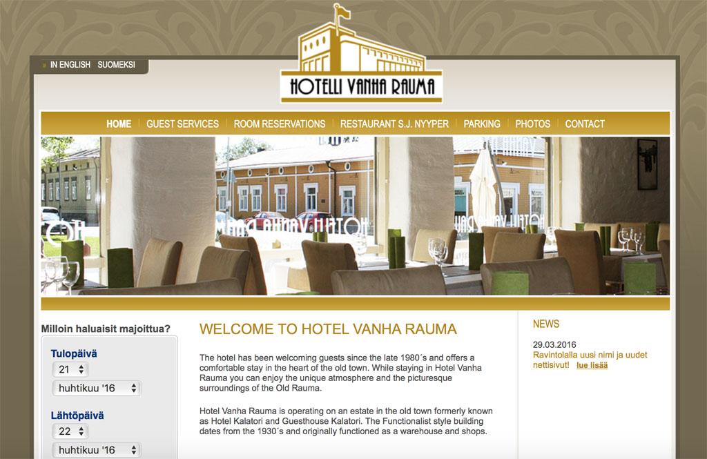 Vanha Rauma Hotel (bron: homepage website Vanha Rauma)