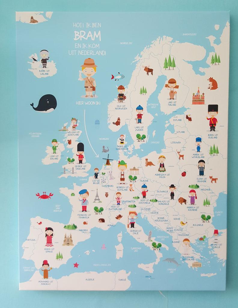 Wat een vrolijke kinderlandkaart.
