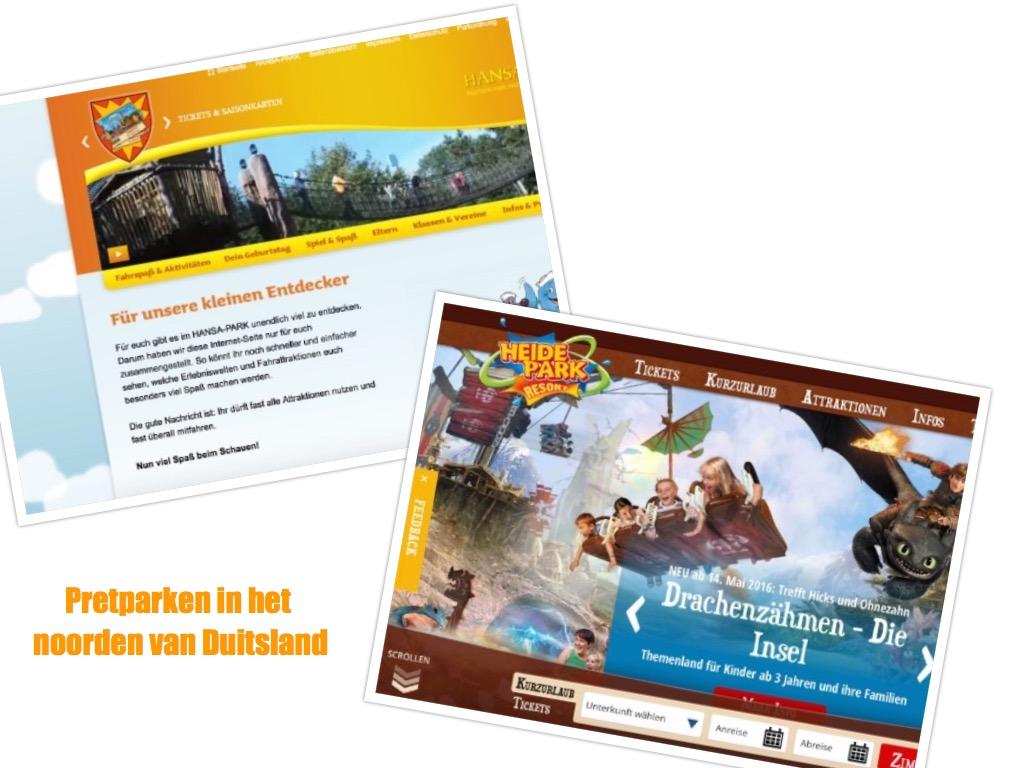 Pretparken in het noorden van Duitsland (bron: homepage websites Hansapark en Heidepark).