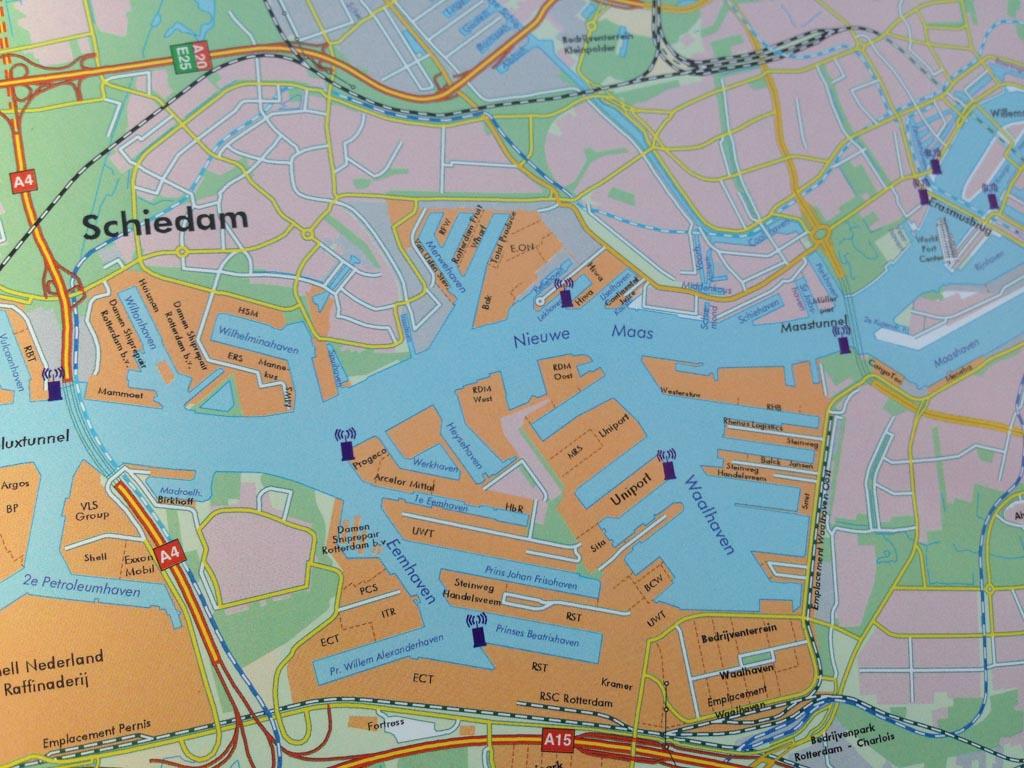 In dit gedeelte van de Rotterdamse is de rondvaart.